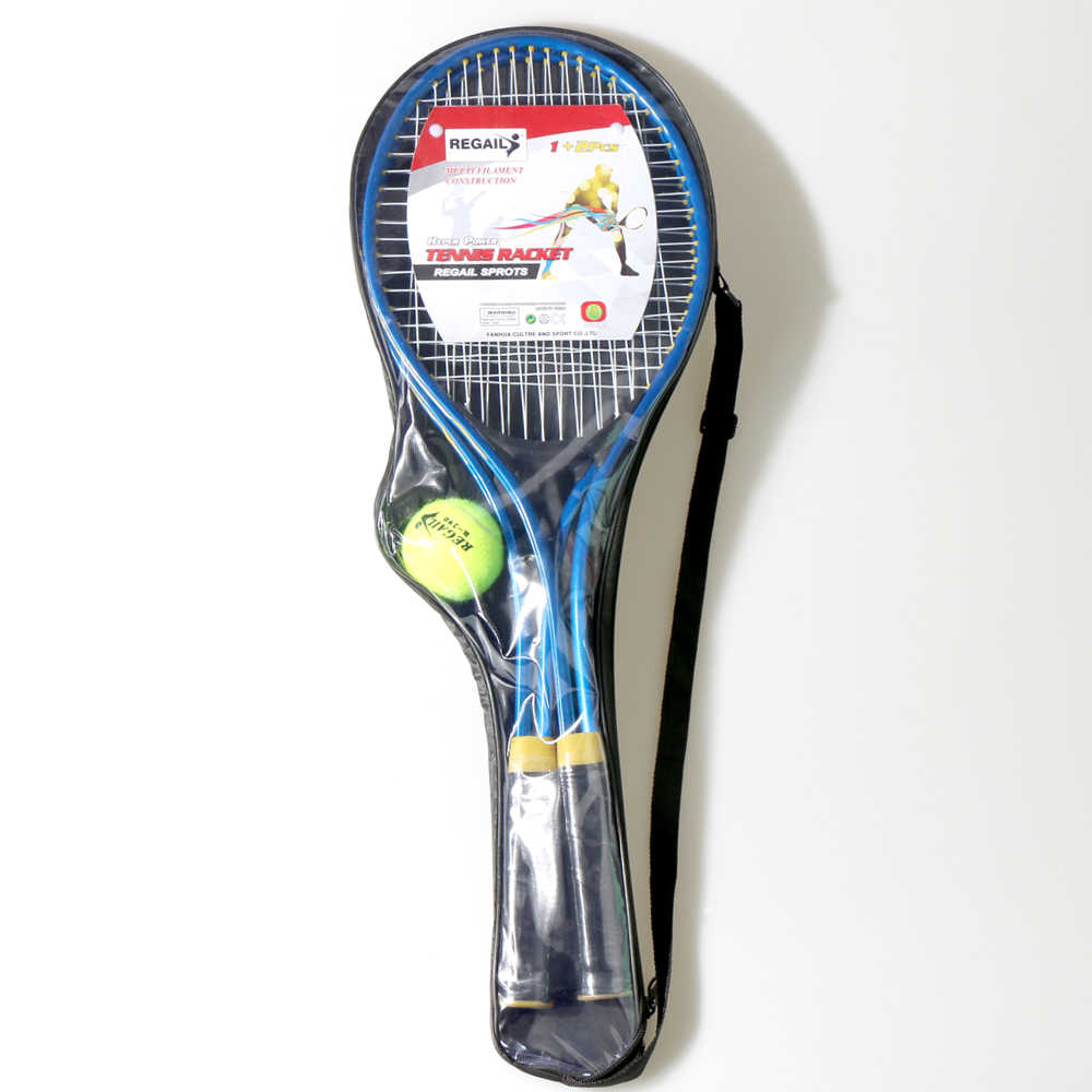 REGAIL 2pcs/set Teenager's Tennis Racket Chindren For Training Tennis Fine Quality Material Tennis String with Training Ball