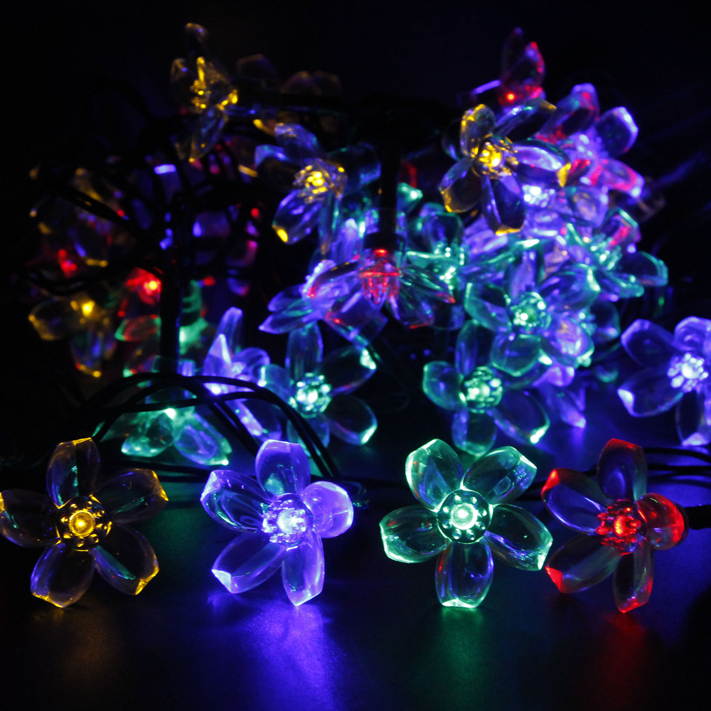 Solar Fairy Holiday String Lights 21ft 50 LED Multi color ...