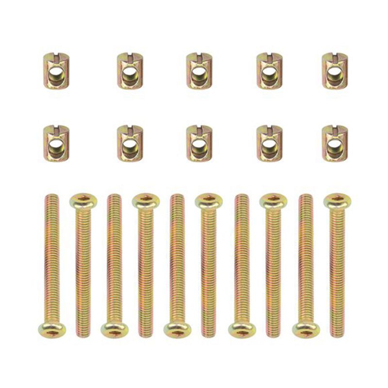 Hex Socket Head Cap Screws Bolts Furniture Bolt with Threaded M 6 x 55 MM Barrel Nuts Cross Dowel Slotted Furniture Nut for Be 9pcs set 17 clips 18 20 22 24 full head set 18 ash blonde 100