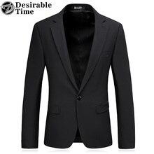 Для мужчин черный Пиджаки для женщин и Пиджаки S-3XL Бизнес Стиль One Button Slim Fit однотонный Блейзер Для мужчин DT053