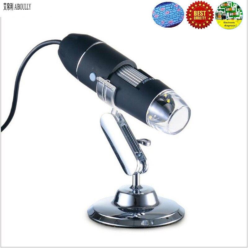 AIBOULLY S8 1000X USB elektroninis mikroskopas Vaizdo didintuvas PCB tikrinimo įrankis Vaizdo įrašų endoskopo nešiojamasis mikroskopas taisymo įrankis