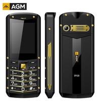 AGM M2 2G Feature Phone IP68 Shockproof cep telefonu 2.4 Inch GSM 0.3MP Back Camera FM Waterproof Telefon Celular 2G 1970mAh