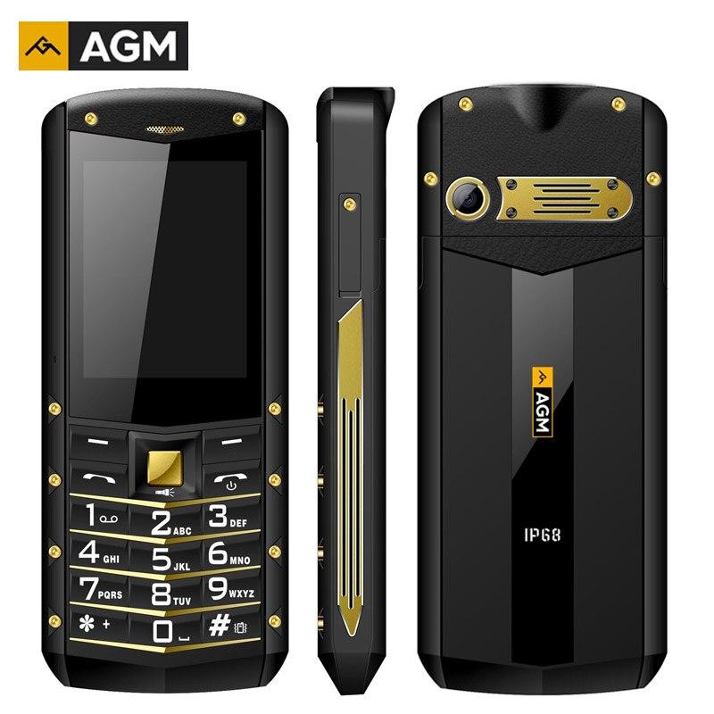 AGM M2 2G Caractéristique Téléphone IP68 Antichoc cep telefonu 2.4 Pouces GSM 0.3MP Retour Caméra FM Étanche Telefon Celular 2G 1970 mAh