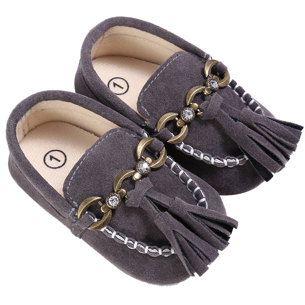 Boat Style Baby Moccasins Infant PU Suede Leather Newborn Toddlers Shoes Soft Shoes Non- ...