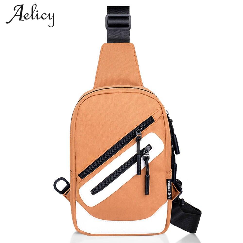 Aelicy Crossbody Bags for Men Oxford Zipper Chest Bag Pack Casual Crossbody Bag Single Shoulder Strap Pack Travel Messenger Bag