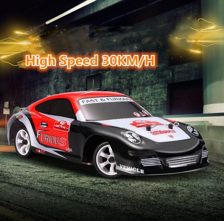 Nouveau K969 Super RC voiture de course A969 updrade 4WD 2.4G 1:28 30 km/h haute vitesse électronique tout-terrain dérive télécommande voiture jouets