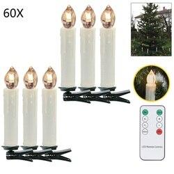 60 stücke/pkg Elektronische Weihnachten LED Kerze flackern licht Weihnachten Baum Party Wohnkultur mit Fernbedienung
