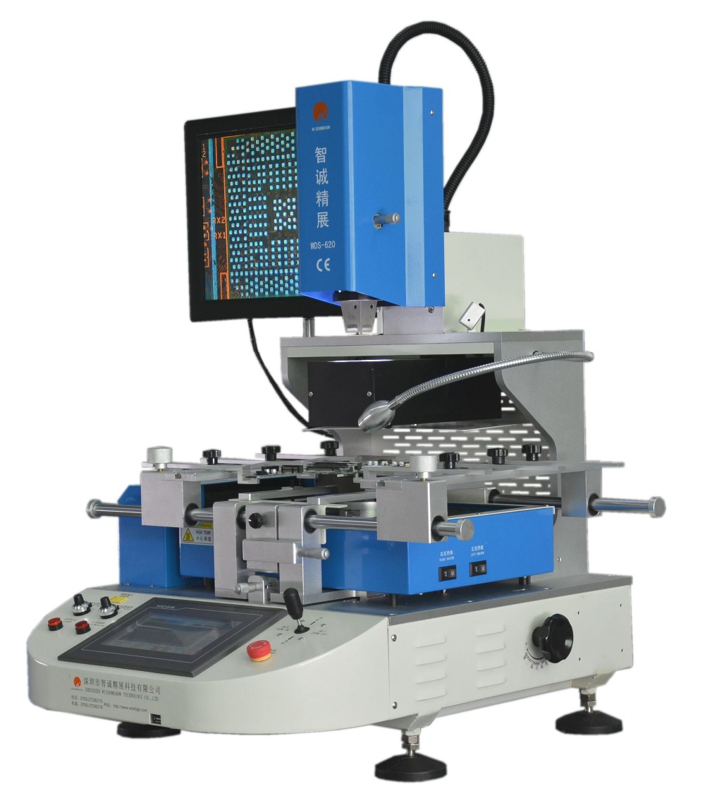 110V 220V WDS 620 infrared bga rework solder station with optical alignment For mobile IC repair