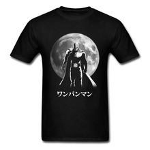 One Punch Man Tshirt Dark Full Moon Hero Avengers Killed T Shirt Men Good Quality Civil War Fighter Japan Anime Kanji