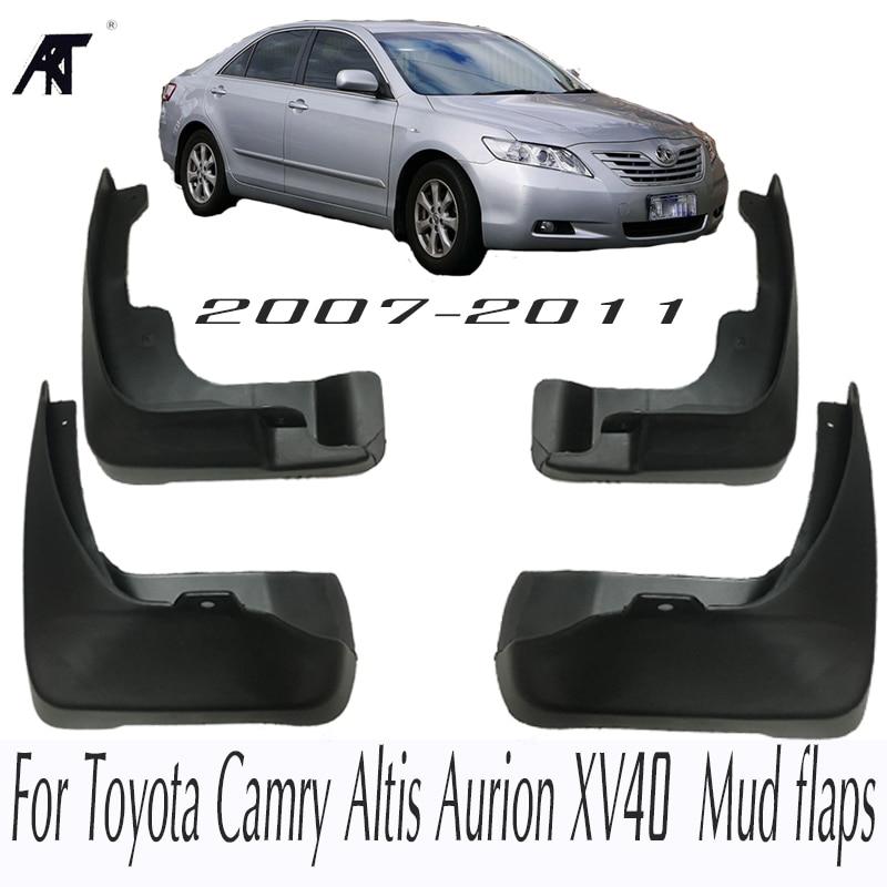 Брызговики для Toyota Camry altis Aurion XV40 2007-2011 брызговик передние задние брызговики 2008 2009 2010 компл. брызговики
