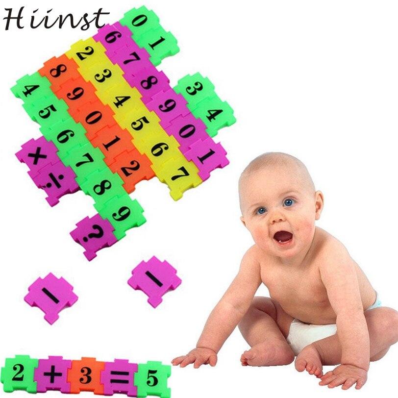 Hiinst Best продавец 36 шт. ребенка Номер Символ головоломки пены Математика Обучающие игрушки подарок educativos головоломки оптовая S30