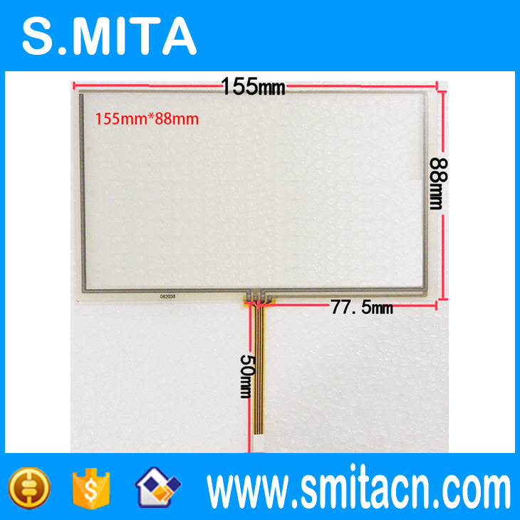 6.2 inch 4 wire resistive touch screen HSD062IDW1 resistance screen 155 * 88 car DVD navigation universal touch screen