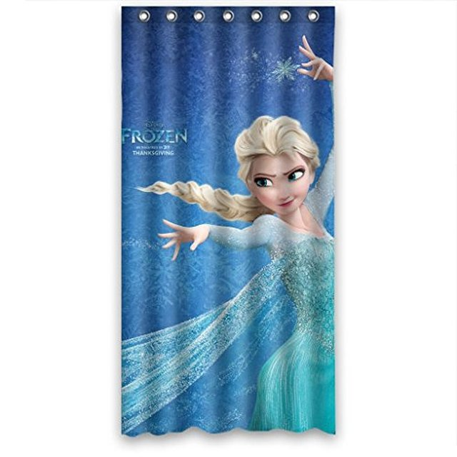 Cartoon Frozen Fabric Bath Shower Curtain 36 X 72 Inch