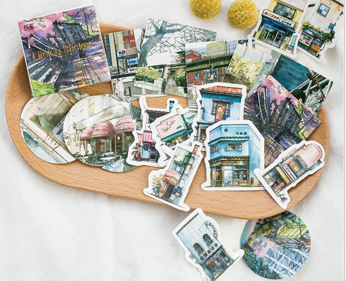Little Travel Diy Decorative Stationary Stickers(1pack=45pieces)