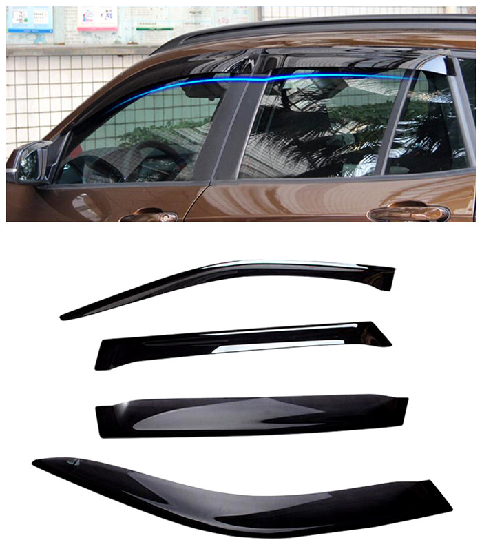 For BMW X5 F15 2014 2015 Car Window Visor Vent Shade Rain Sun Wind Guard 4pcs