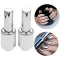 New Arrival Women's Fashion 2Pcs 15ML Silver Metallic Mirror Effect Nail Polish + Top Coat