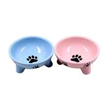 Кормушка для домашних собак, кошек, треугольная керамическая Нескользящая миска для еды, диспенсер для воды, маленькая миска для Кормления Собаки, товары для кошек