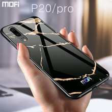 MOFi Silicone Edge with Tempered Glass Back Cover for Huawei P20 P20Pro