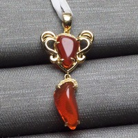 Fine Jewelry индивидуальные Размеры Настоящее 18 К розовое золото AU750 100% натуральный огненный опал камень женщины подвески для Для женщин тонкой ц