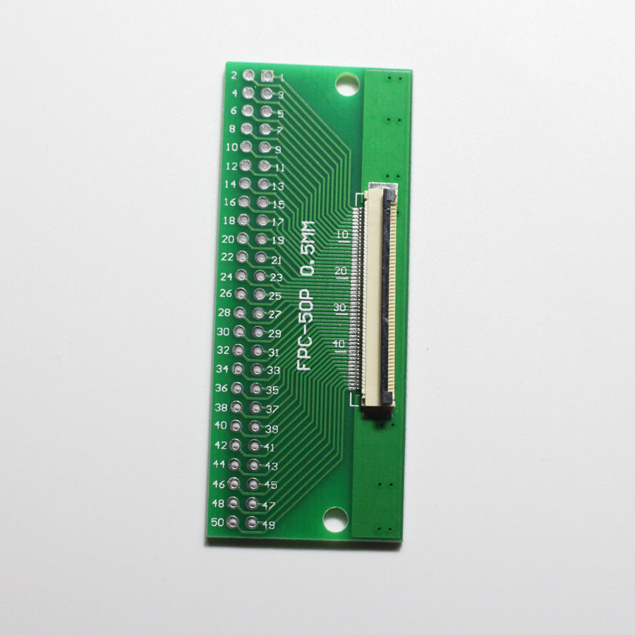 1pcs 50 Pin 0.5mm FFC FPC to 50P DIP 2.54mm PCB Converter Board Adapter