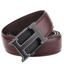 2019 Casual Business Male Black Belts Automatic Buckle Men Belt Fashion H Designer Popular Luxury Real Leather Mens Belt 2019 mens fashion designer popular belt leather casual luxury business male belts automatic buckle men black brown belt
