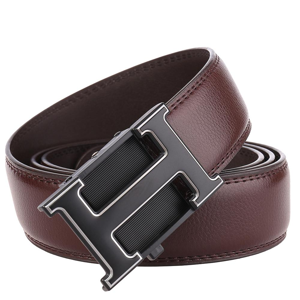 2019 Casual Business Male Black   Belts   Automatic Buckle Men   Belt   Fashion H Designer Popular Luxury Real Leather Mens   Belt