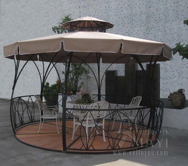 Dia 3.5 metro fer métallique luxe pavillon extérieur gazebos manteau ...