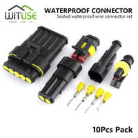 TSLEEN-10 Kits de Cable eléctrico impermeable, 1/2/3/4/5/6 Pines, Way 12A IP68, conector para motocicleta