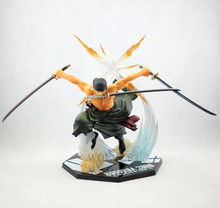 17cm One piece Roronoa Zoro action figure Combat version