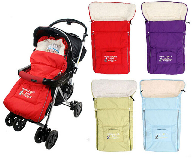 Baby Sleeping Bag for stroller Newborn Envelope sleeping bag winter thick fur linner Sleepsacks for car and Kids pram