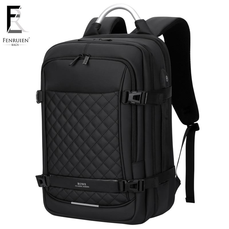 FRN Laptop Backpack 15.6 inch Men's Travel Bags 2019 Multifunction Rucksack Waterproof Oxford Black Computer Backpacks For Men