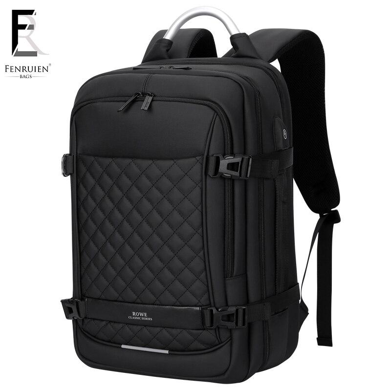 FRN sac à dos pour ordinateur portable 15.6 pouces sacs de voyage pour hommes 2019 multifonction sac à dos étanche Oxford noir ordinateur sacs à dos pour hommes