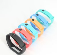 Colorful smart strap Replace Wrist Band For Xiaomi Miband Mi band 2 Smart Band Bracelet present with free Screen Film