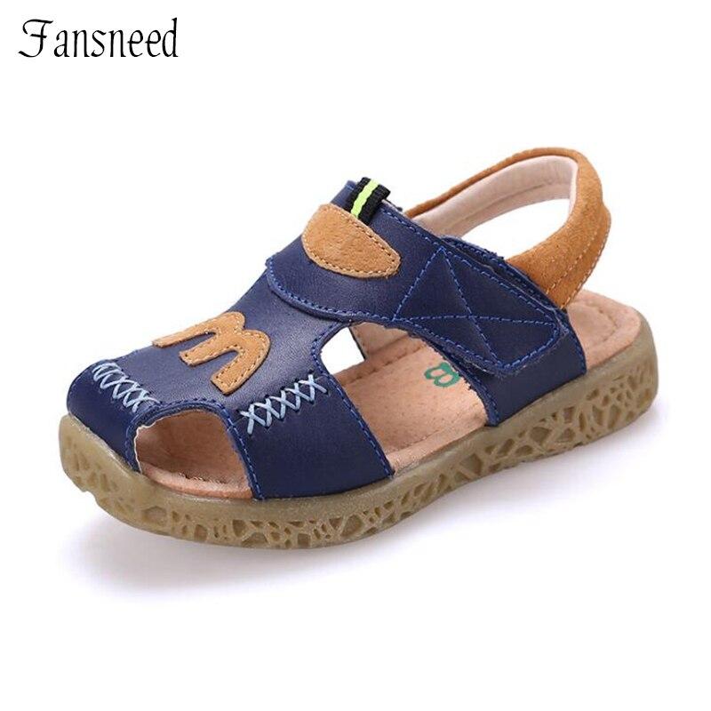 Cowboy shoes boys sandals 2018 new shoes super soft comfort wear-resistant anti-slip beach sandals