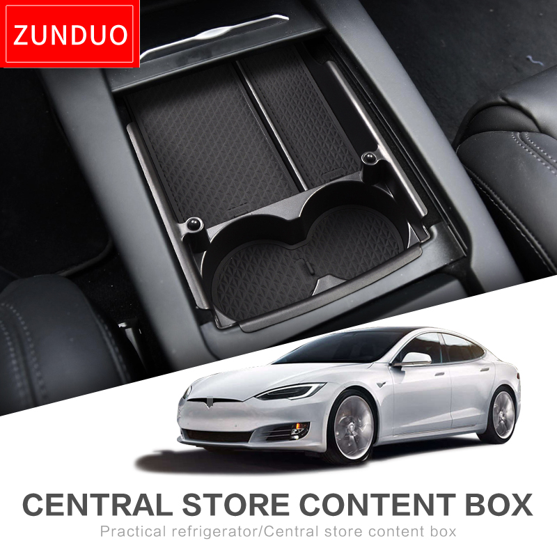 ZUNDUO Car central armrest box For Tesla MODEL X MODEL S Interior Accessories Stowing Tidying Center Console OrganizerZUNDUO Car central armrest box For Tesla MODEL X MODEL S Interior Accessories Stowing Tidying Center Console Organizer