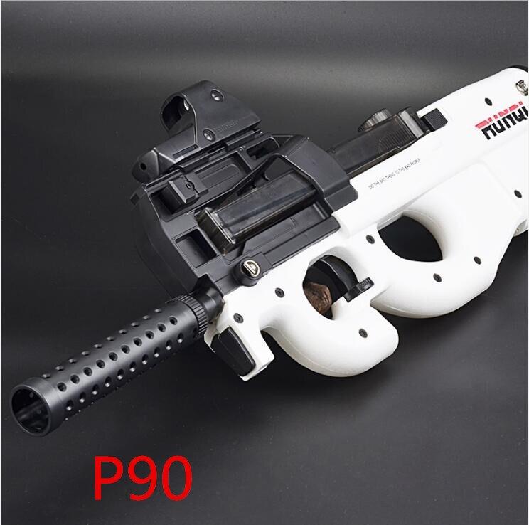 2018 blanc Graffiti édition P90 électrique jouet pistolet Paintball en direct CS assaut Snipe arme eau douce balle éclate pistolet jouets