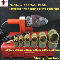 High Quality Thicken 20 63mm 800W 220V PPR Hotmelt, Pipe Welding Machines, Tube Welder Hot Sale Made In China
