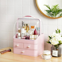 NEW Two-way Opening-Closing Cosmetics Organizer Drawer Acrylic Cutlery Jewelry Storage Box Makeup