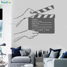Props Before the Film Starts Clapperboard Vinyl Wall Decal Filming Cinema Home Decor Movie Room Decoration Murals YT1380(China)