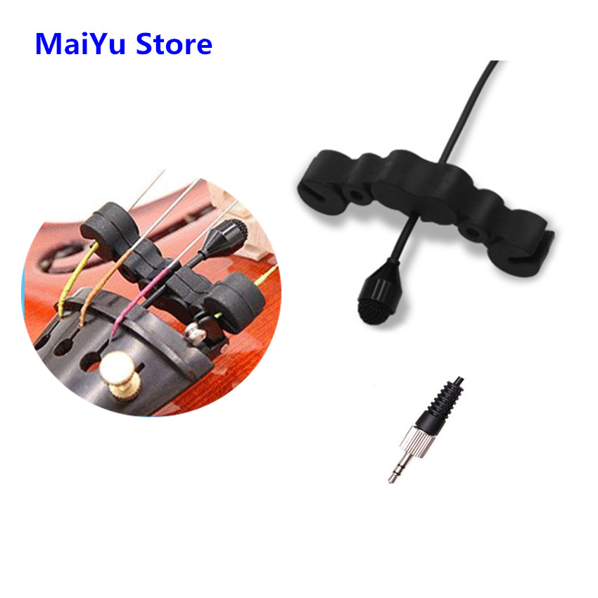 Professional Violin Condenser Microphone Mini Instrument Microfone for Sennheiser Wireless Transmitter TRS 3.5mm Screw Jack