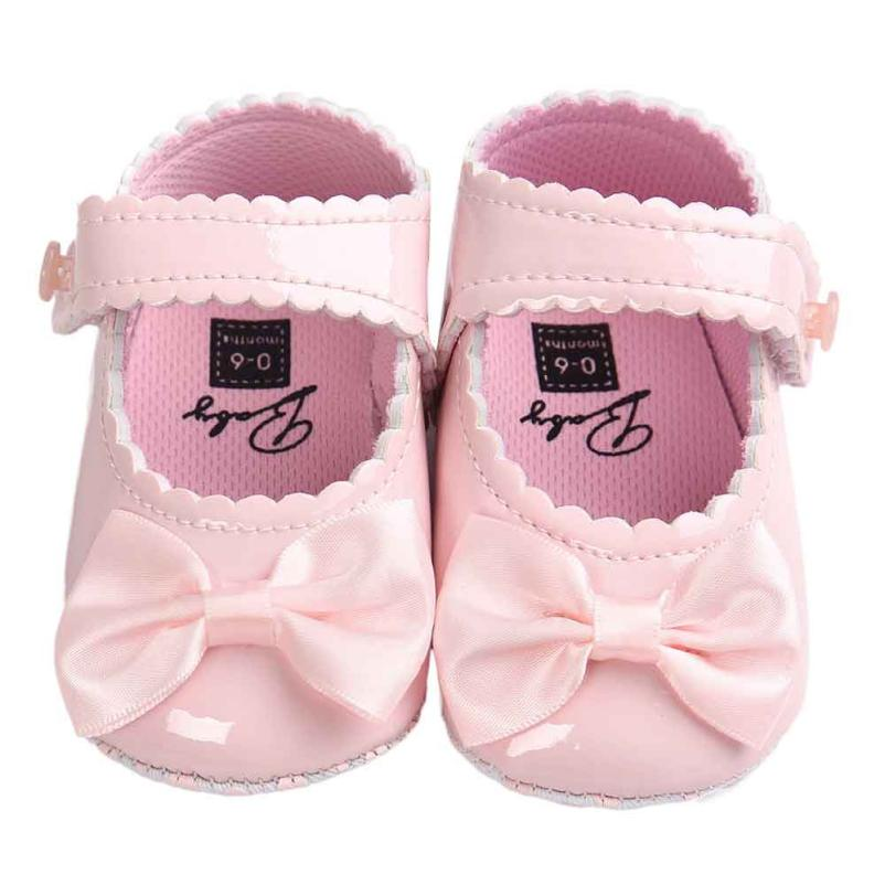 2018 new Baby Girl Bowknot Leater Shoes Sneaker Anti-slip Soft Sole Toddler baby girl newborn shoes #zer