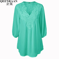 Summer Elegant Women Lace Blouses Floral Crochet Chiffon Shirt Ladies Shirts Top Femme Pullover Basic Wear