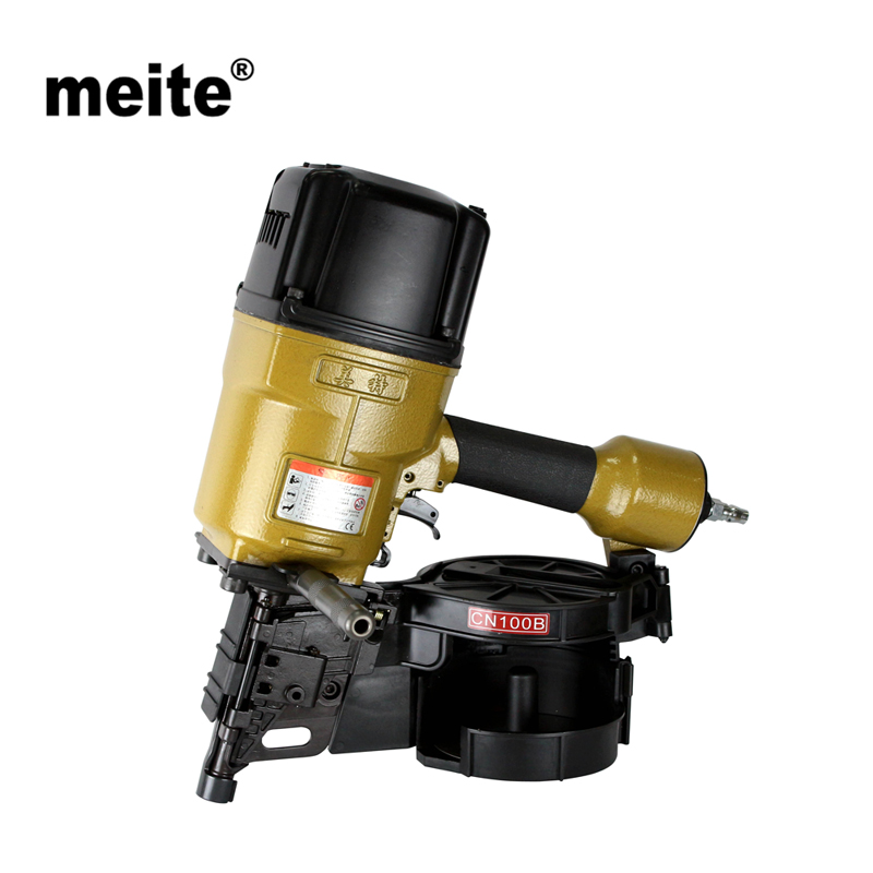 MEITE CN100 Professional industrial grade coil nails pneumatic nailer gun for pallets, boxes, crates, fencing Oct.24 Update meite bw120 length 48 5mm heat insulating nailer pneumatic air nailer gun for fixing outer wall in cold places sep 9 update