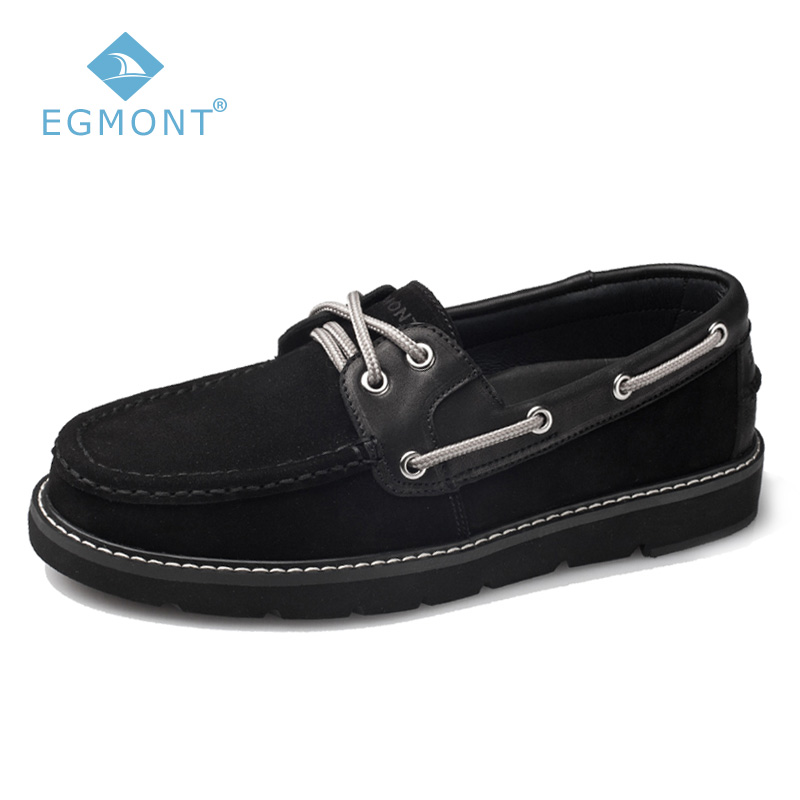 Egmont Black Spring&Summer Boat Driving Solid Logging Mens Casual Shoes Loafers Genuine Leather Handmade Comfortable Breathable цены онлайн