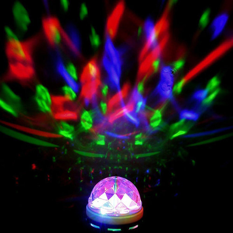 Disco Colour Changing E27 Bulb 3W Stage Bulb AC85-260V Colorful Rotating Bubble For Decor Indoor Stage Light DJ Party Light Bar