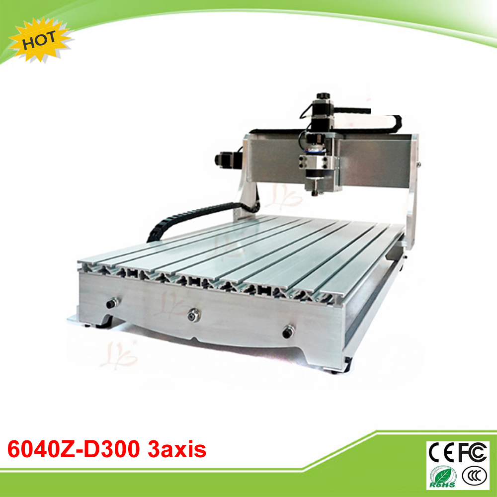 6040Z-D300 3axis mini CNC router lathe machine ball screw 300W spindle free tax to Russia no tax to russia cnc carving machine 4030 z d300 cnc lathe mini cnc router for woodworking