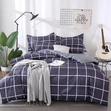 54 Color 3/4pcs Bedding Set Geometric Pattern Duvet Cover&Flat Bed Sheet&Pillowcase Soft Comfortable Home Textile Wholesale(China)
