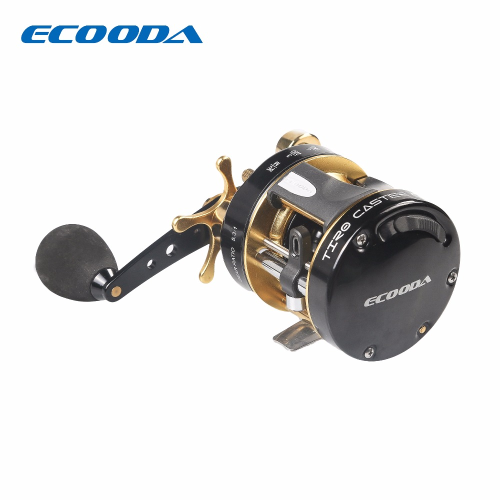 ECOODA 2016 High Quality Bait Casting 5+1BB Ball Bearings Cast Drum Wheel Carp Carretilha De Pesca 5.3:1 Gear Ratio Hengelsport mikado ace carp 10007 6 1подш gear ratio 4 7 1 сист своб хода