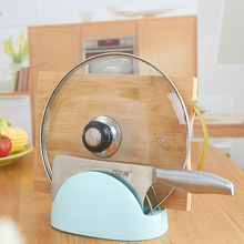 Candy Color PP+Stainless Steel Pan Pot Rack Cover Lid Storage Stand Holder Kitchen Accessories