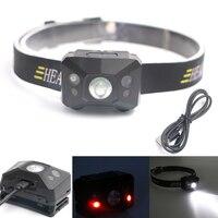 Wysokiej jakości Mini USB Akumulator Czołówka Reflektorów 3500 Lumenów Q5 reflektor Światła Latarki camping piesze wycieczki